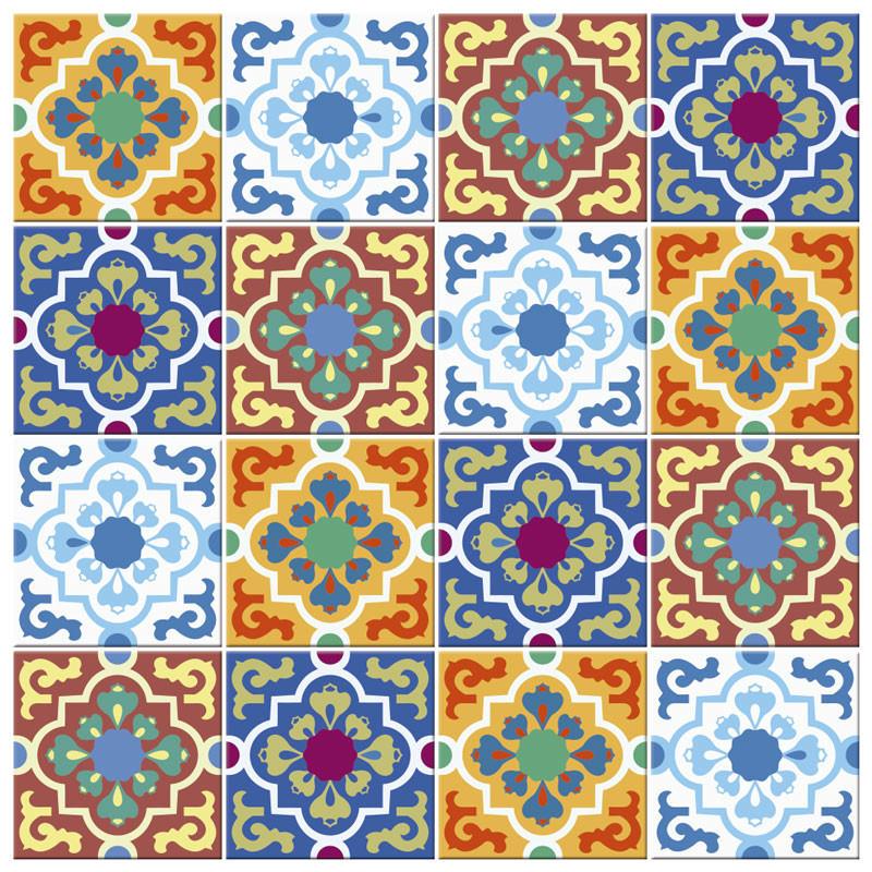 Adesivo para Azulejo Português Hidráulico Frutacor