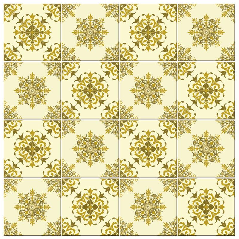 Adesivo para Azulejo Português Hidráulico Arabesco Verde
