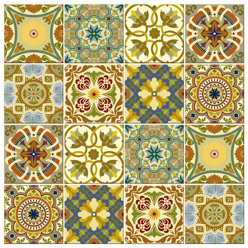 Adesivo para Azulejo Português Verde Misturado