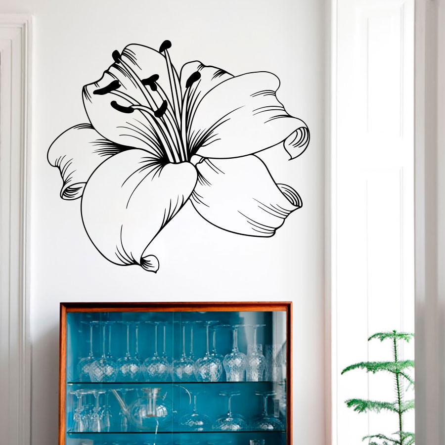 Adesivo de Parede Flor Hibisco