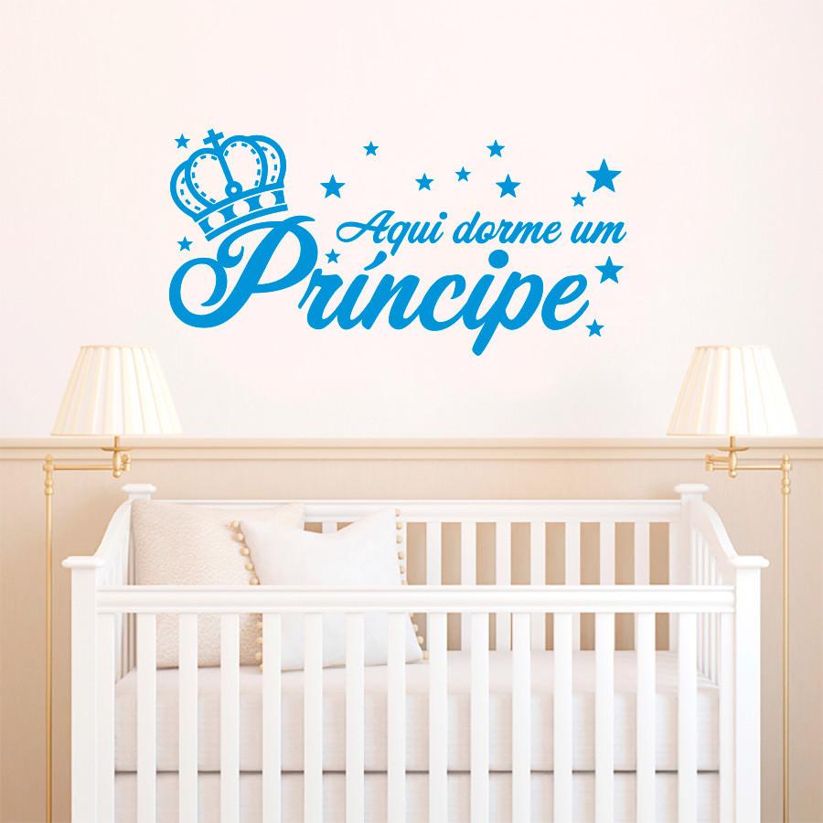 Adesivo de Parede Aqui Dorme um Príncipe