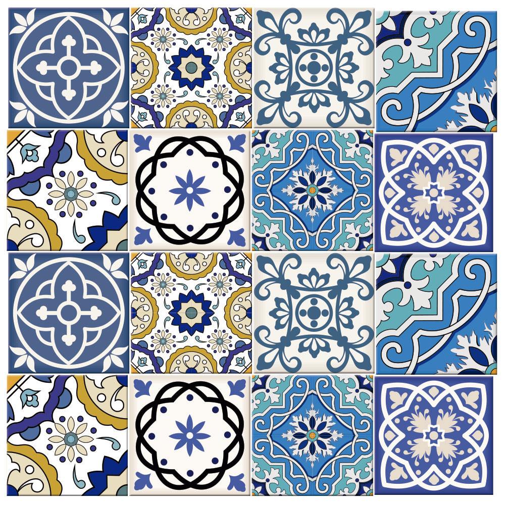 Adesivo Para Azulejo Azuis