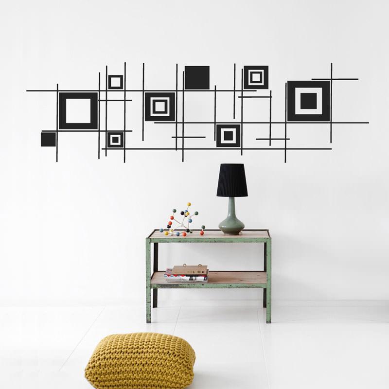 Adesivos Decorativos Quadrados Abstratos