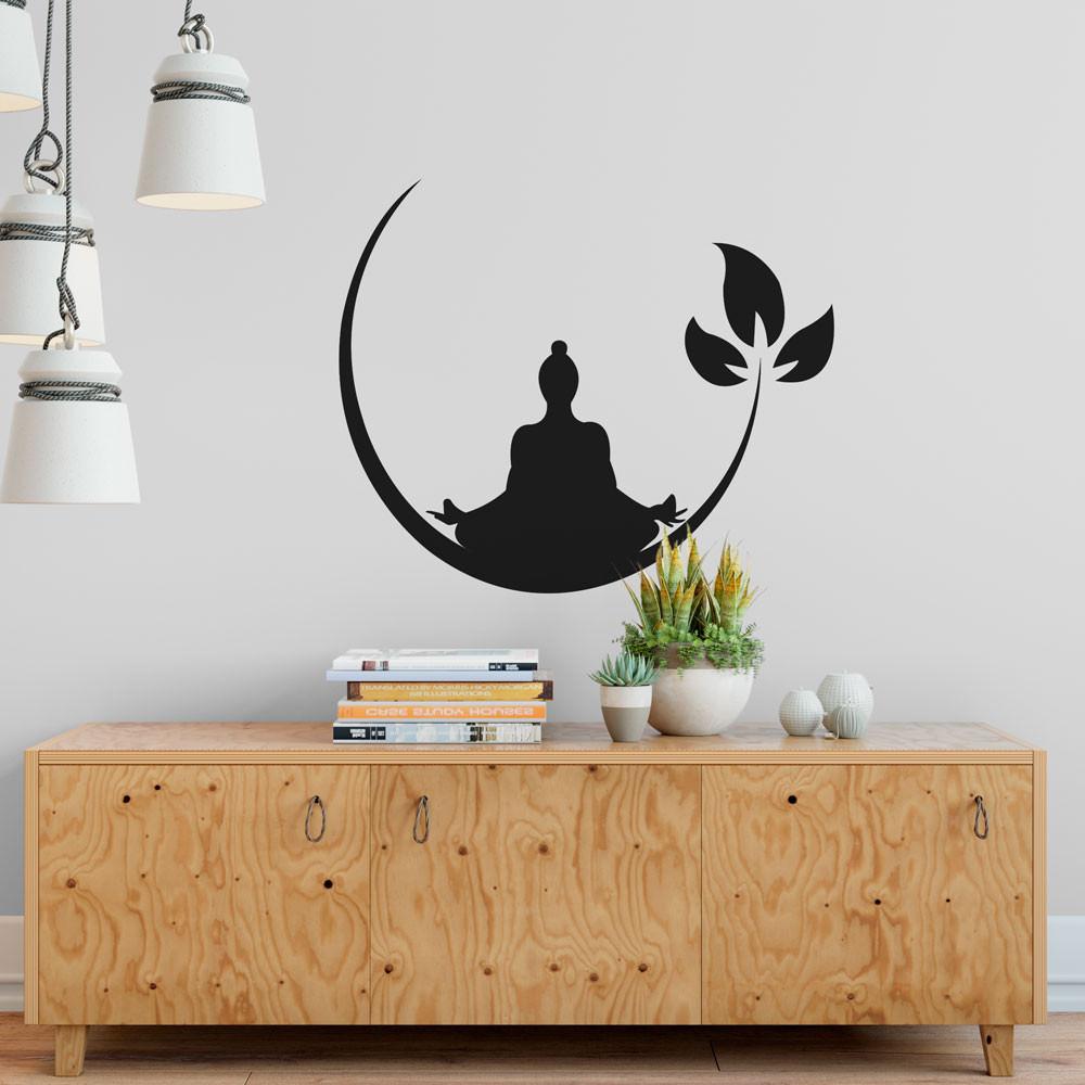 Adesivo de Parede Yoga - Meditação
