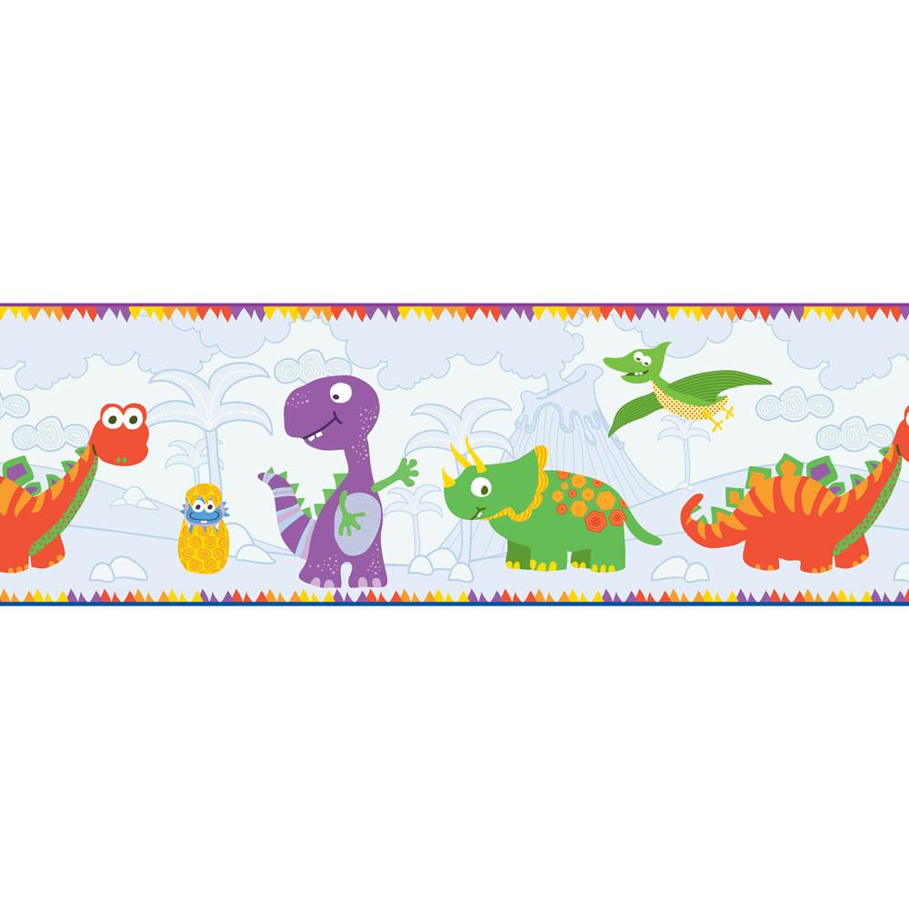 Faixa Decorativa Infantil Dinossauros - Has#Tag