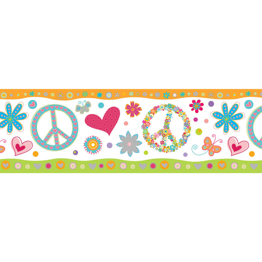 Faixa Decorativa Infantil Peace And Love- Has#Tag
