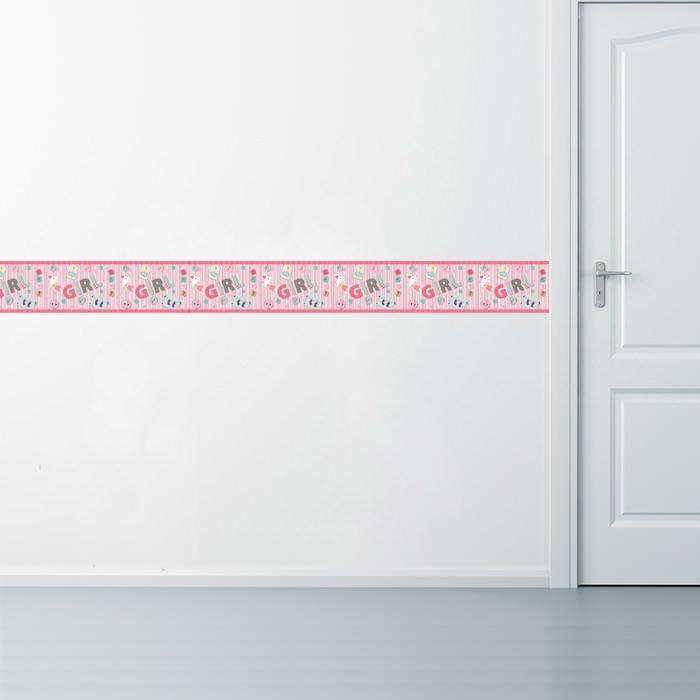 Faixa Decorativa Girl Aplicação