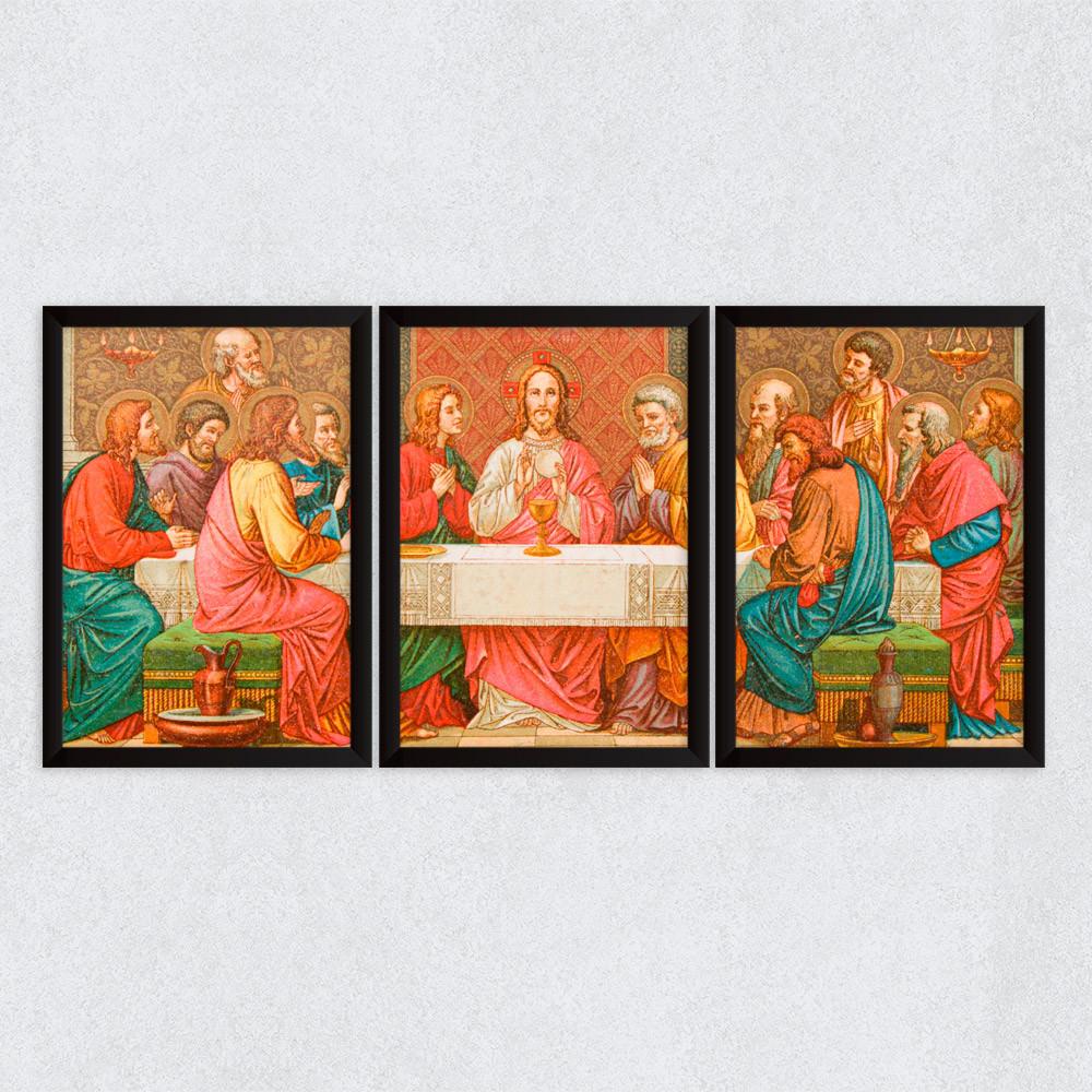 Conjunto de Quadros Decorativos Santa Ceia
