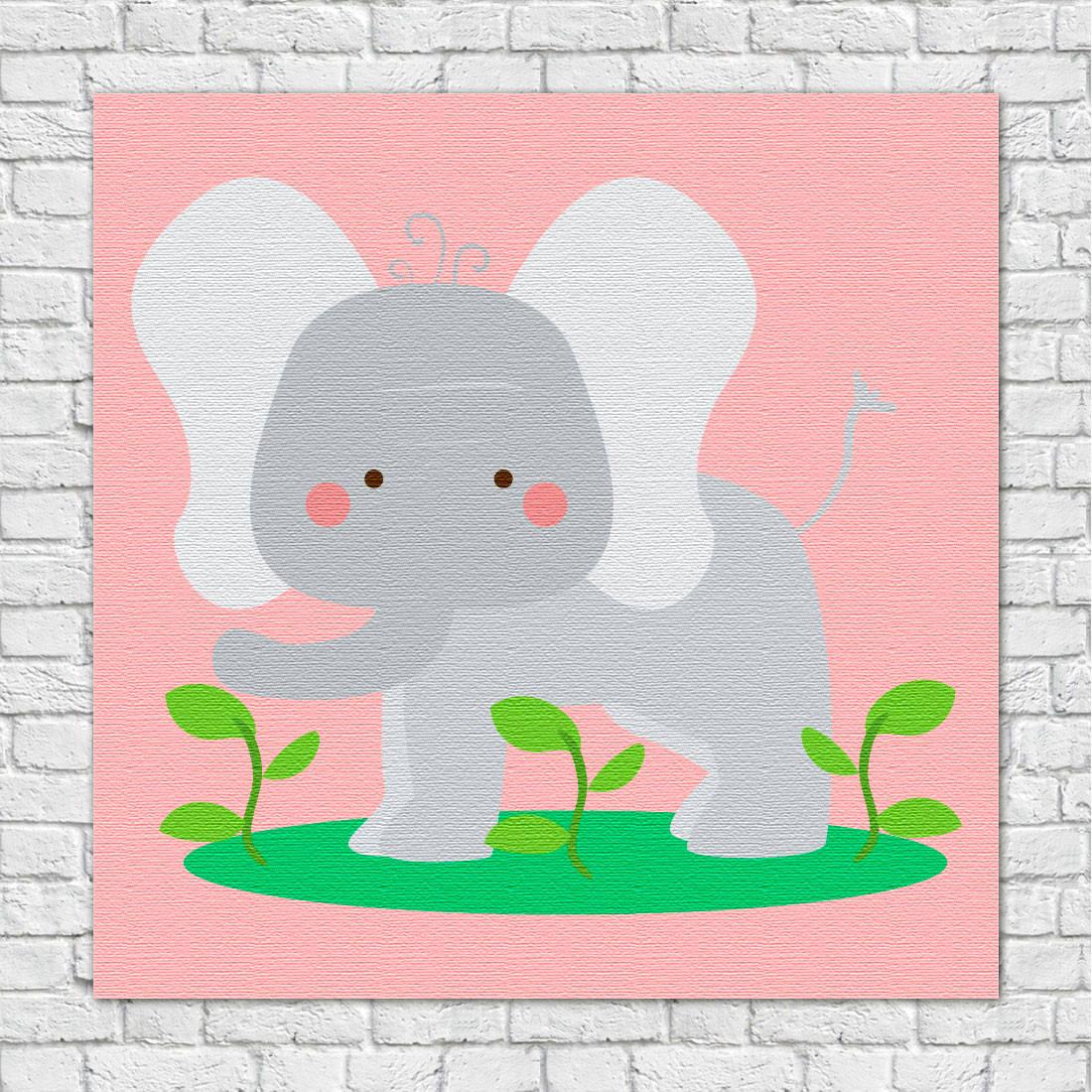 Quadros Decorativos Infantil Animais Divertidos Elefante
