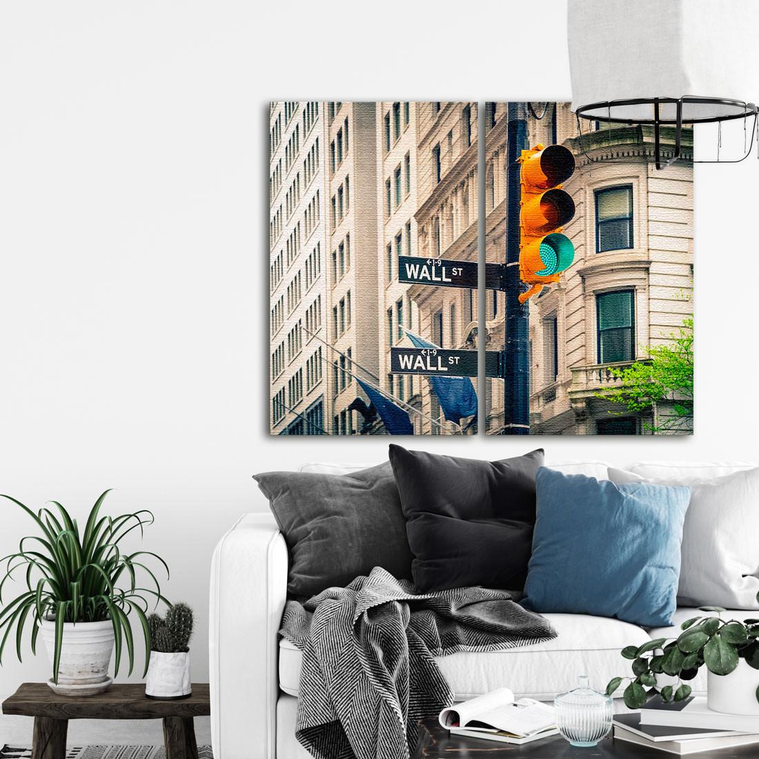 Conjunto de Quadros Decorativos Wall Street - Em Canvas
