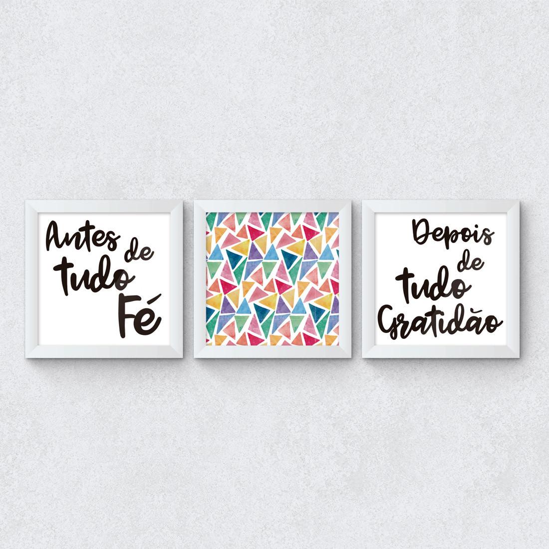 Conjunto de Quadros Decorativos Depois de tudo Gratidão