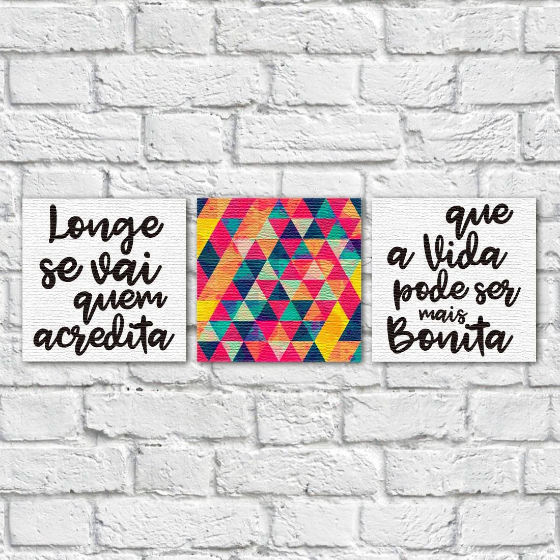 """Conjunto de Quadros Decorativos """"Longe se Vai"""" ( Em Canvas )"""