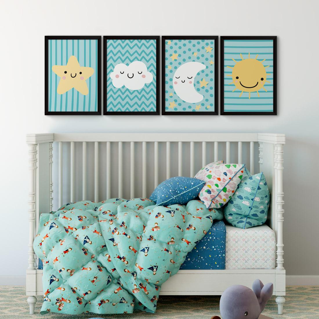 Conjunto de Quadros Decorativos Infantil Céu