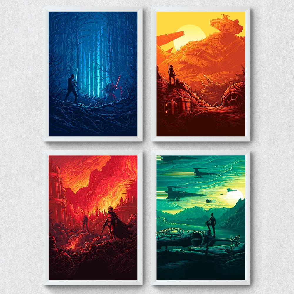 Conjunto de Quadros Decorativos Star Wars O Despertar da Força