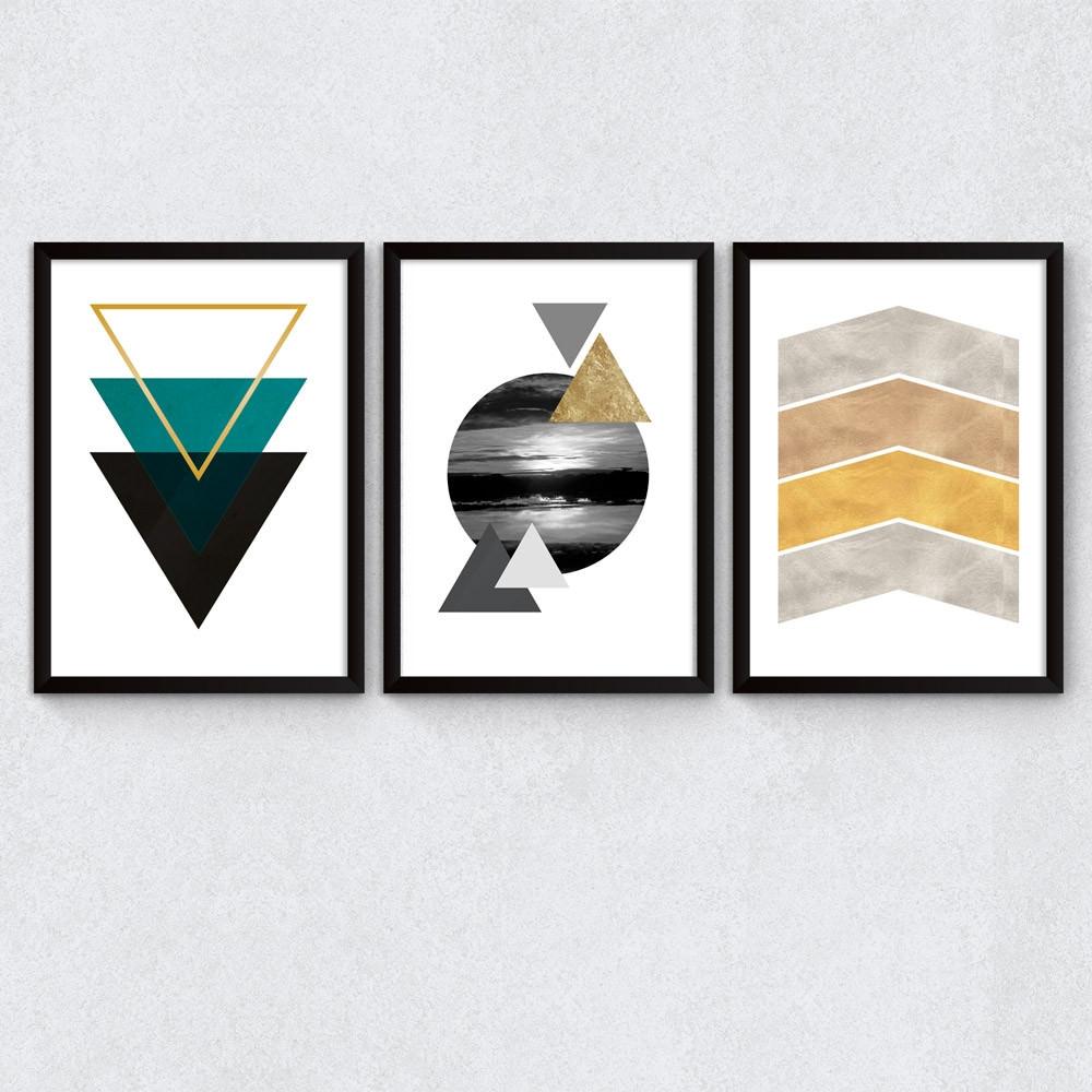 Conjunto de Quadros Triângulos