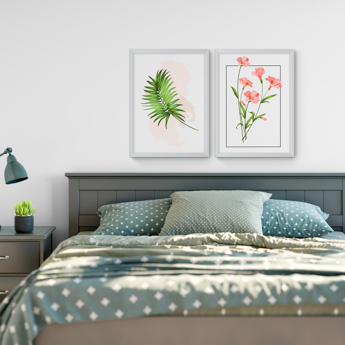 Conjunto de Quadros Decorativos Tropical