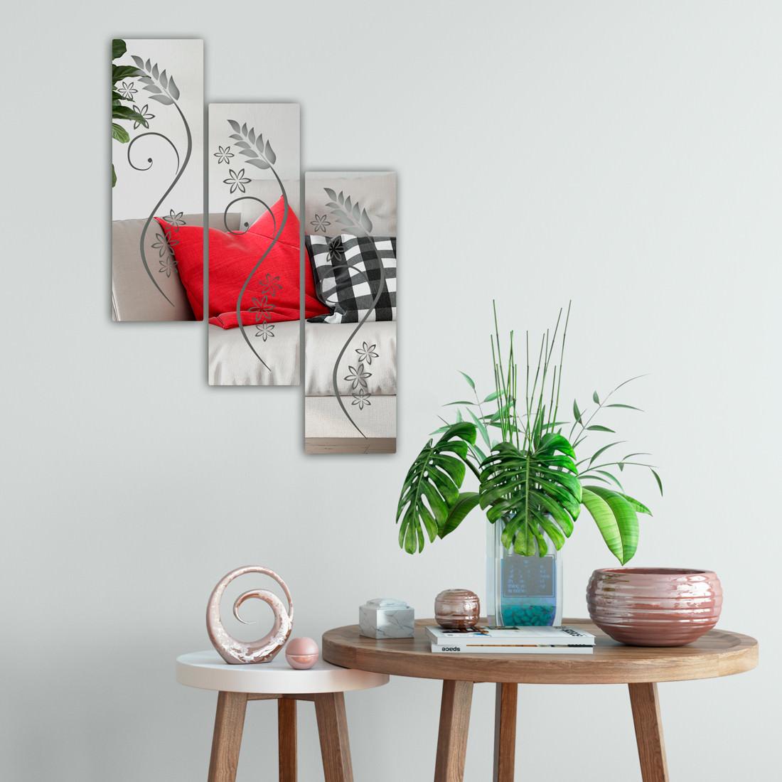 Espelhos Decorativos Quadrados Florais.