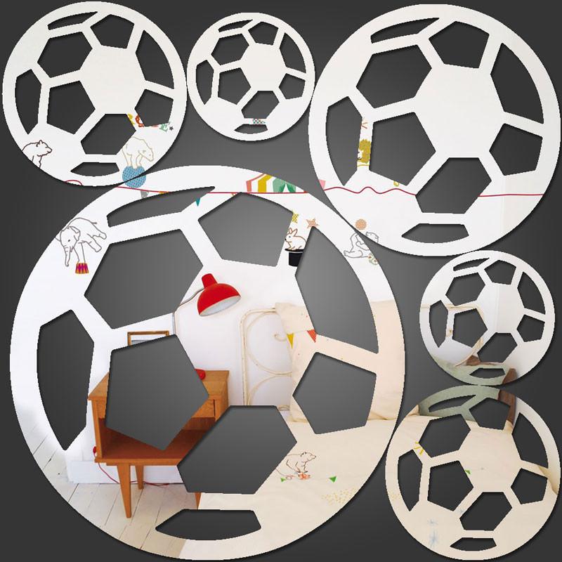 Espelho Decorativo Bolas de Futebol