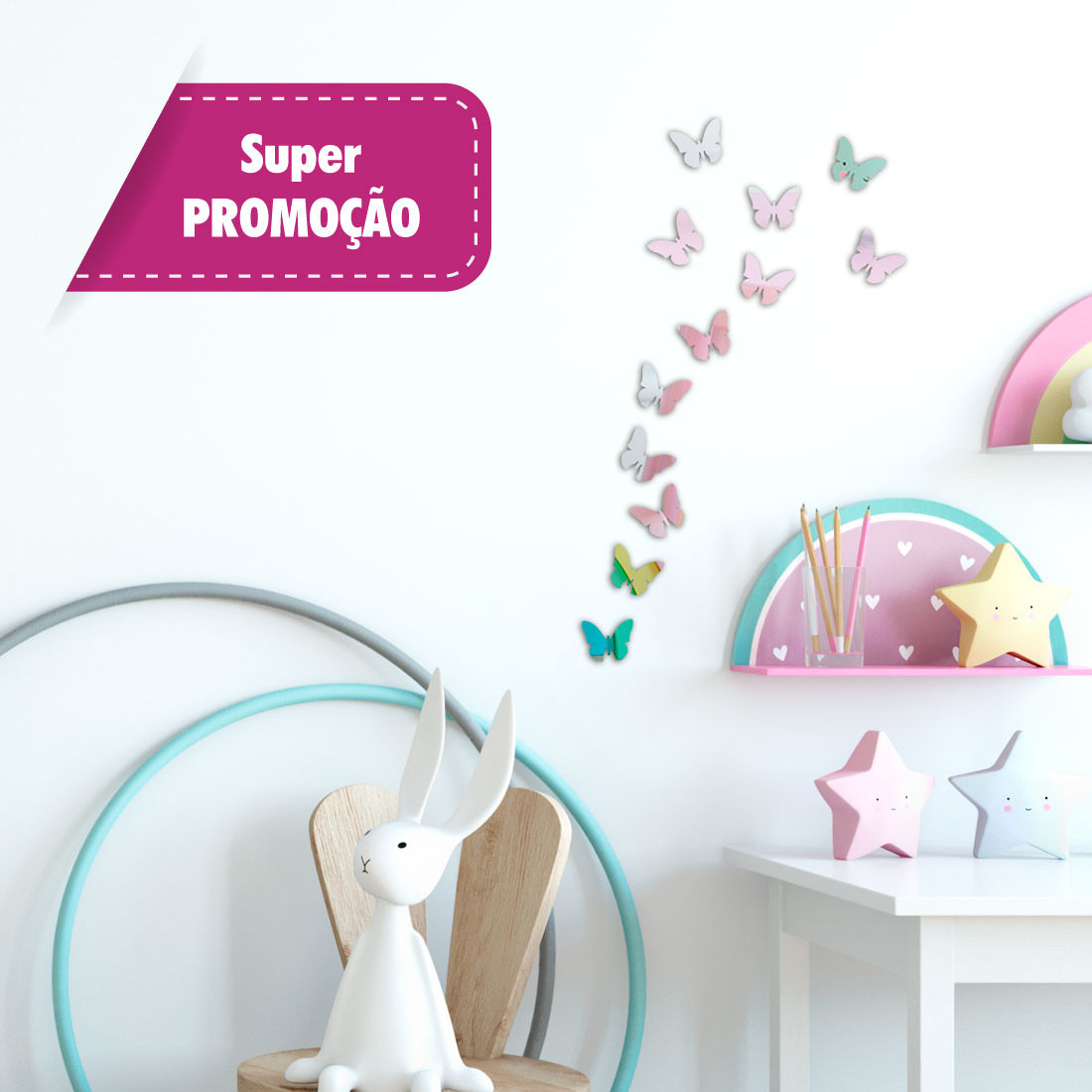 Promocao kit mini borboletas