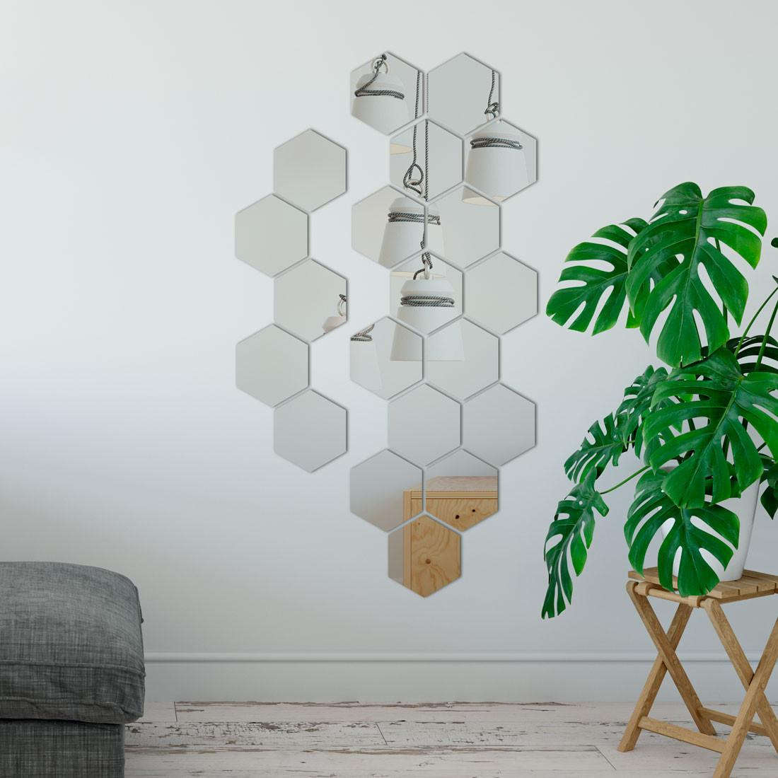 Espelho Decorativo Colmeia Exagonos