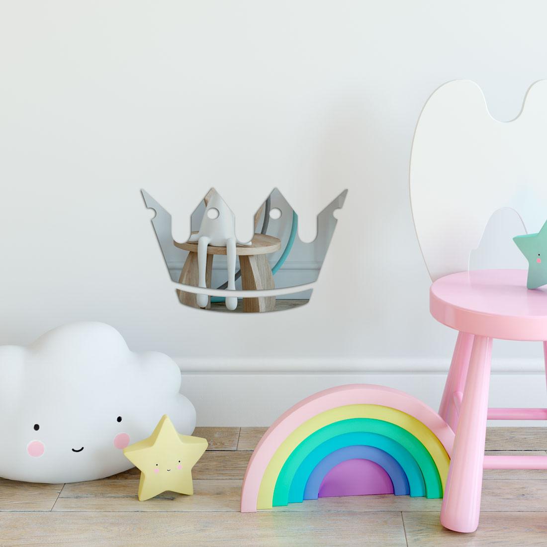 Espelho Decorativo Infantil Coroa