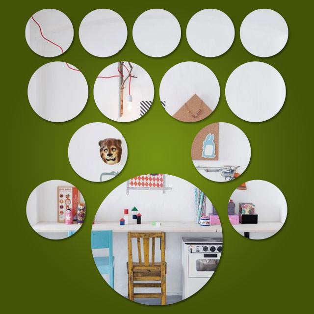 Espelho Decorativo Mini Círculos - 14 Peças