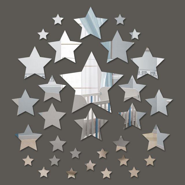 Espelho Decorativo Mini Estrelas - 32 Peças - 2