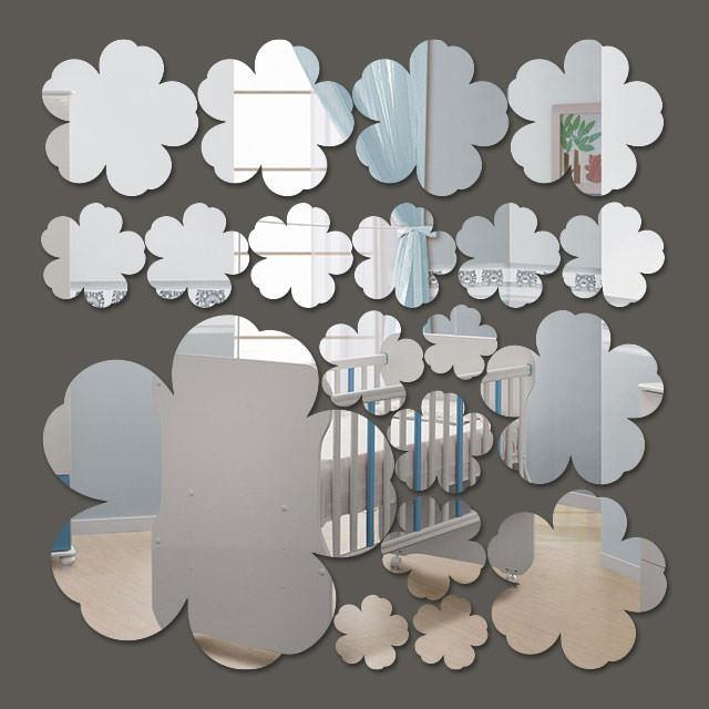 Espelho Decorativo Mini Flores - 19 Peças - 2