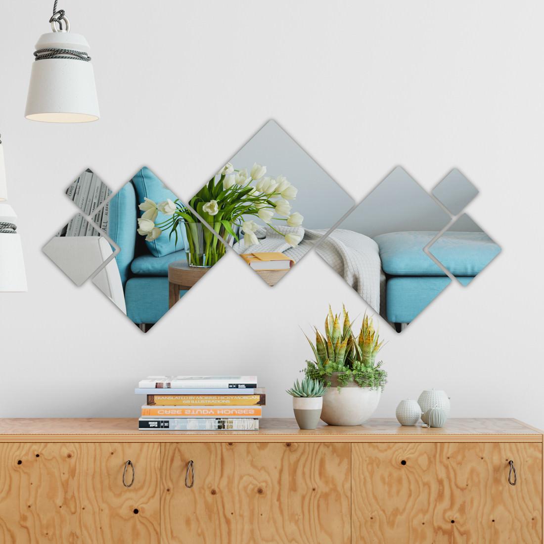 Espelho Decorativo em Acrílico Quadrados Personalizáveis