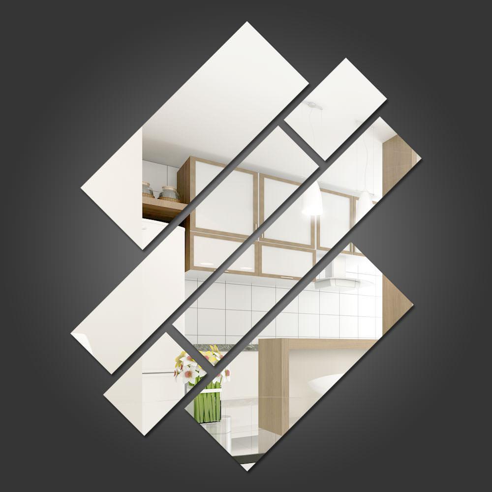 Espelho Decorativo Retângulos Personalizáveis 2