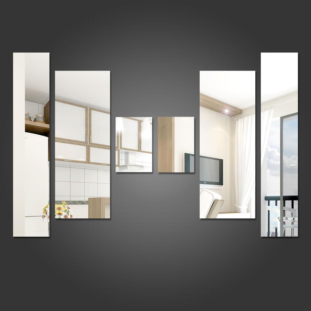 Espelho Decorativo Retângulos Personalizáveis 5