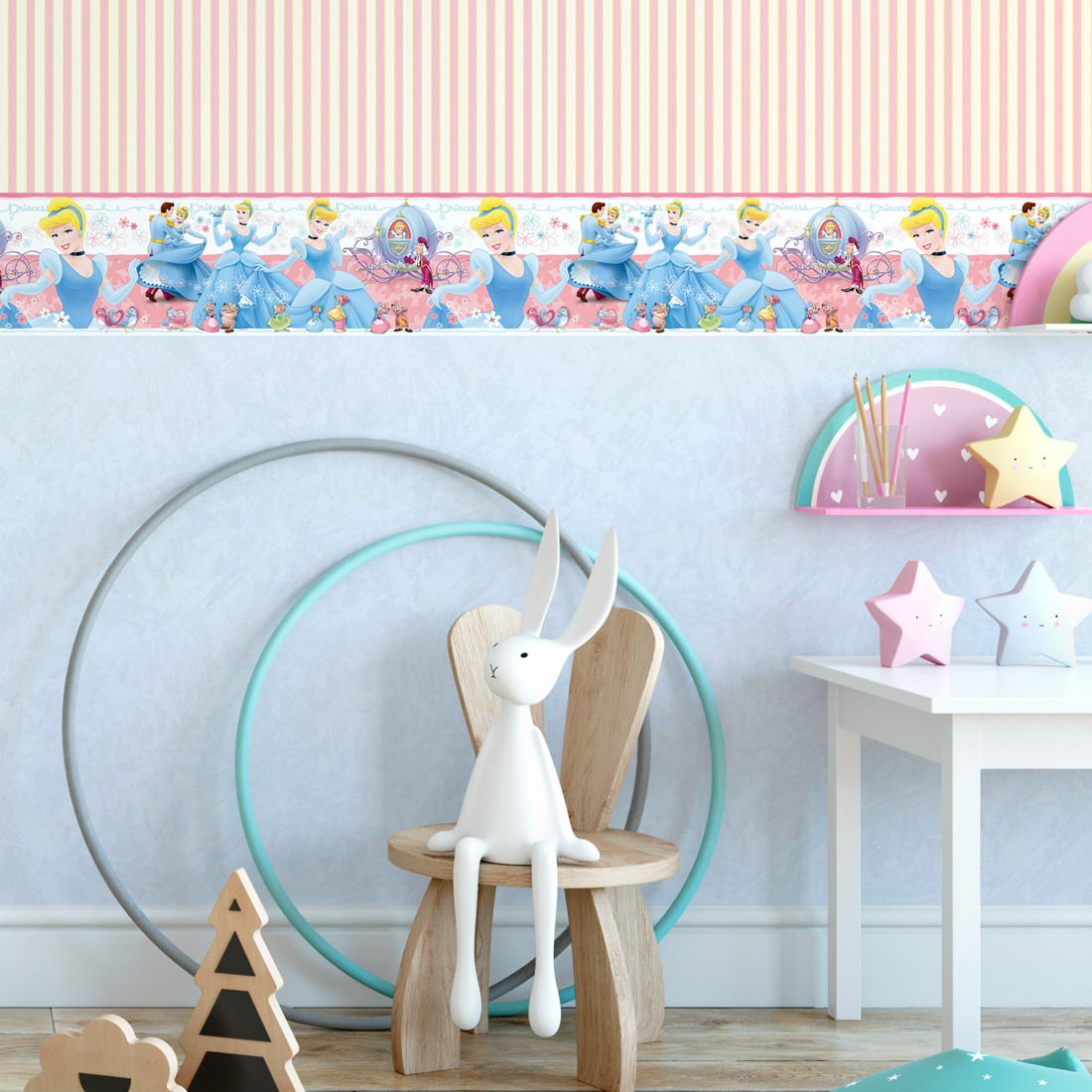Faixa Decorativa Infantil Cinderela - Disney