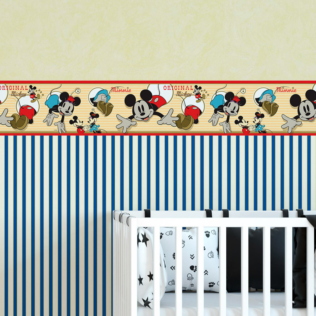 Faixa Decorativa Infantil Mickey & Minnie - Disney