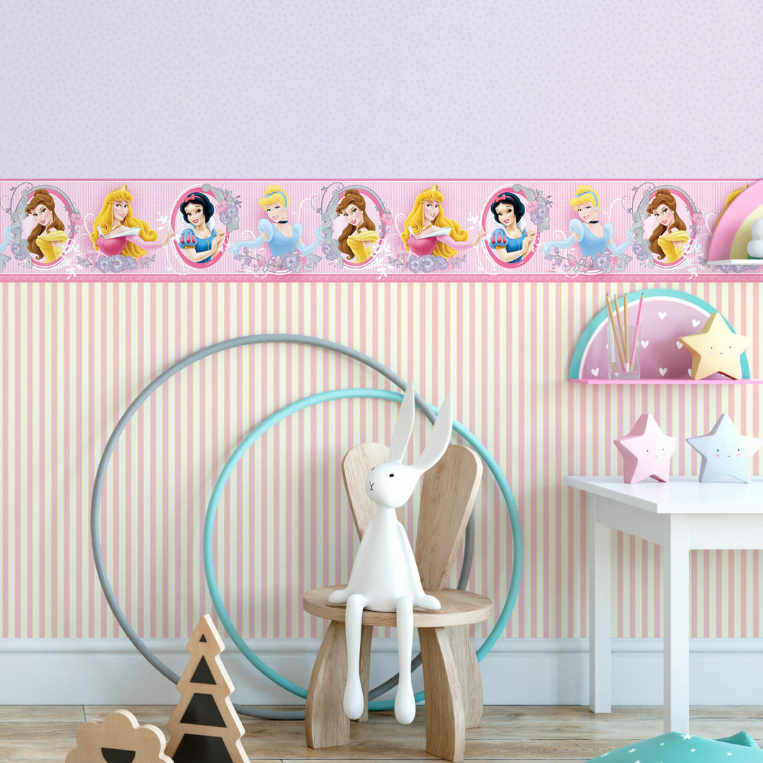 Faixa Decorativa Infantil Princesas - Disney