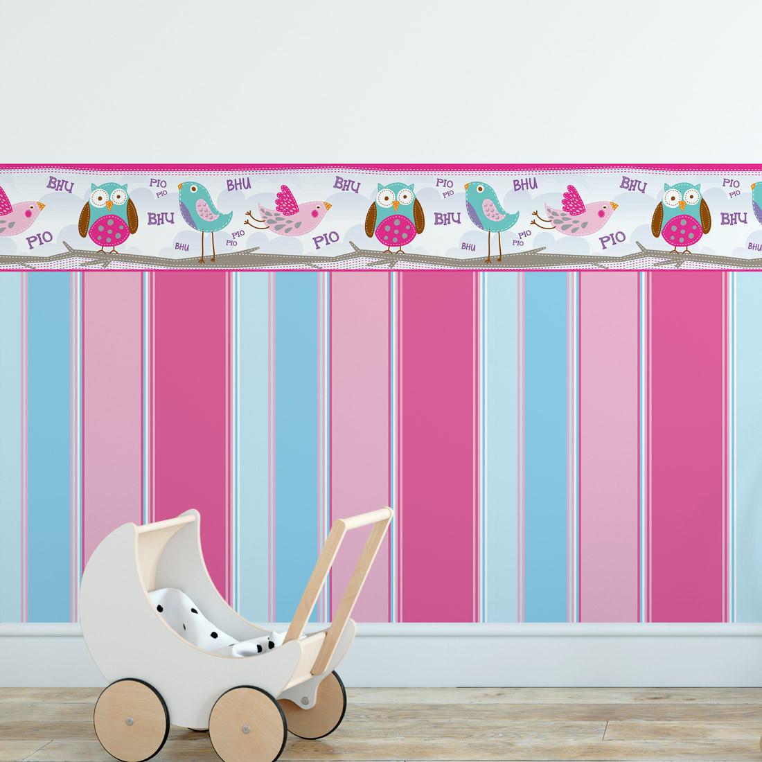 Faixa Decorativa Infantil Corujas - Has#Tag