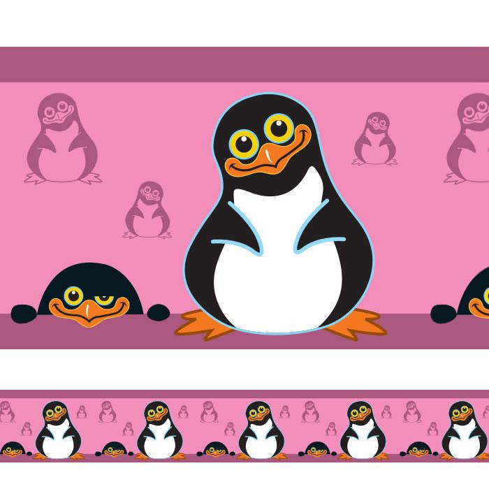 Faixa Decorativa Pinguim Menina