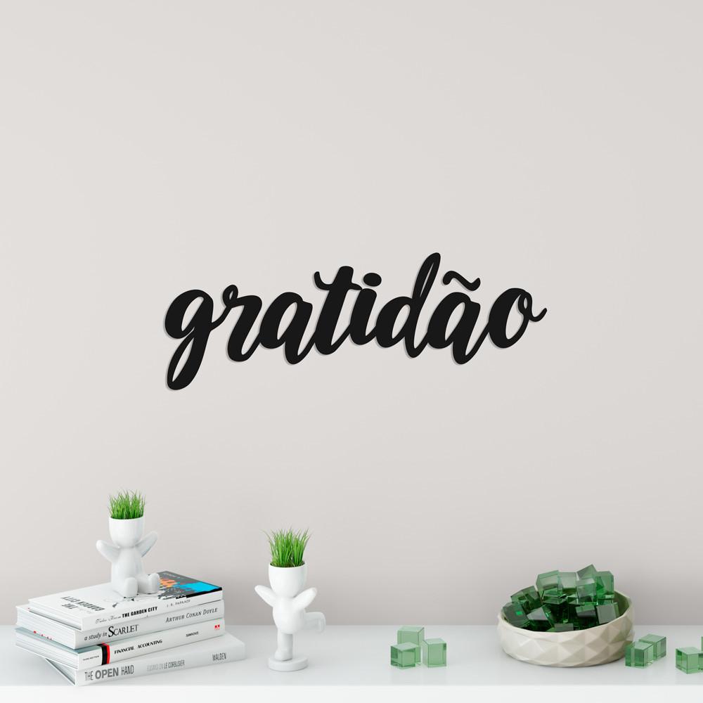 """Frase 3D """"Gratidão"""""""