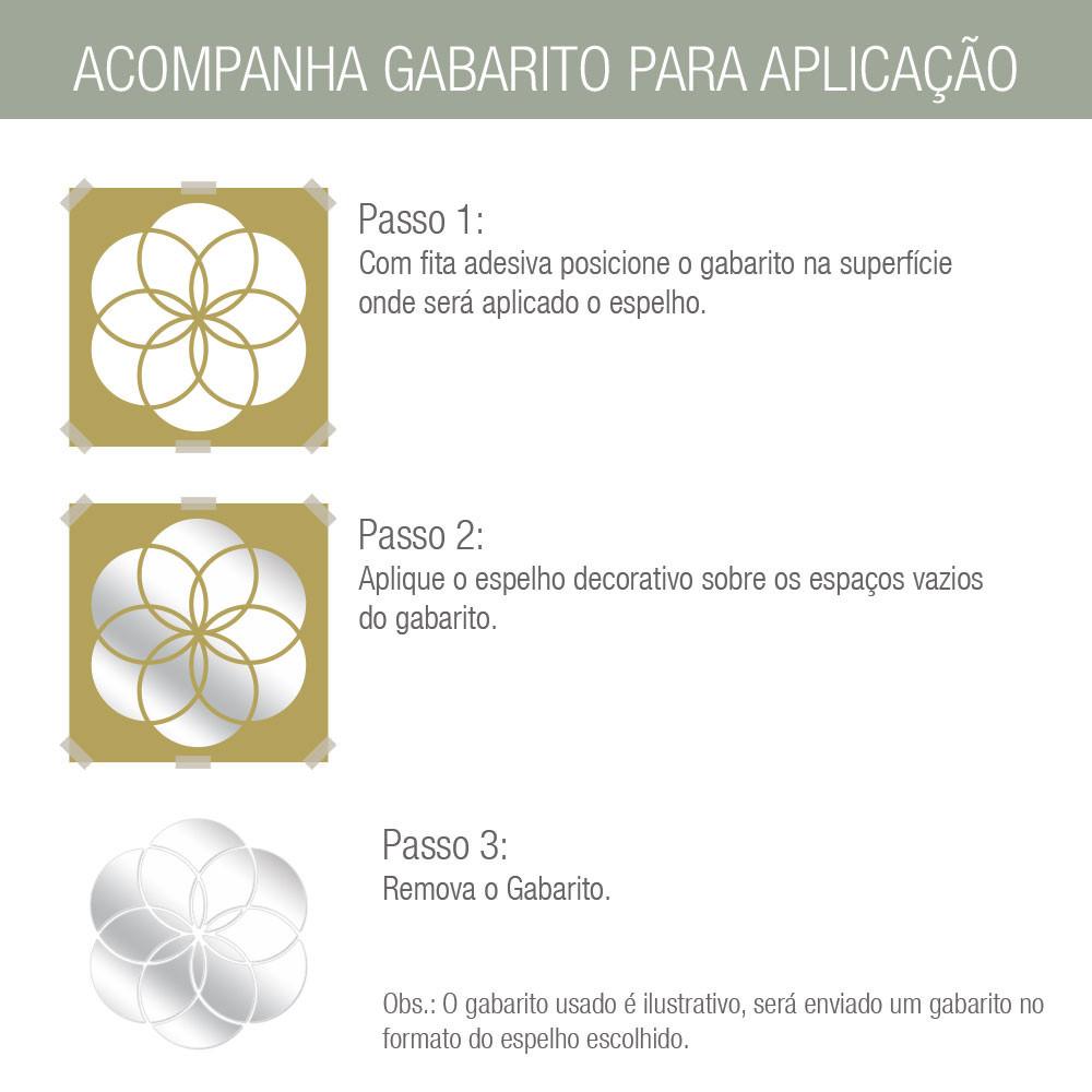 Espelho Decorativo Retângulo Abstrato - Gabarito