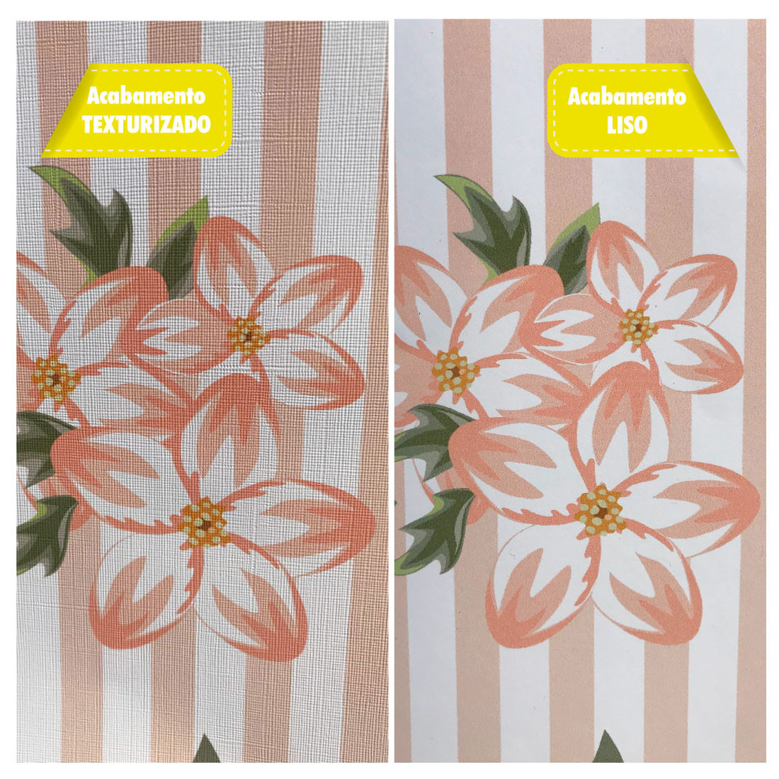 Foto Diferença Papel de Parede Texturizado e Papel de Parede Liso