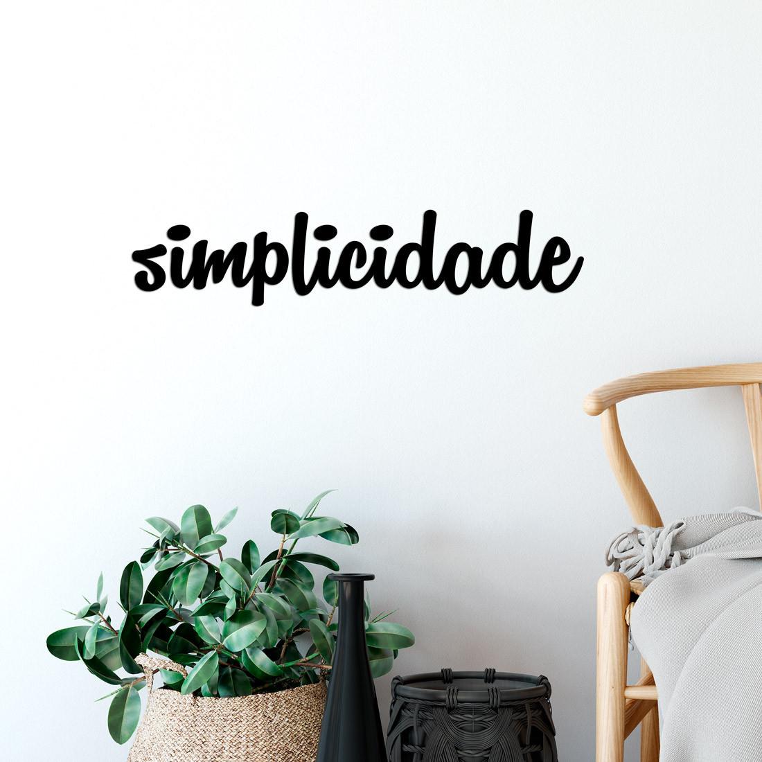 "Palavra Decorativa 3D ""Simplicidade"""