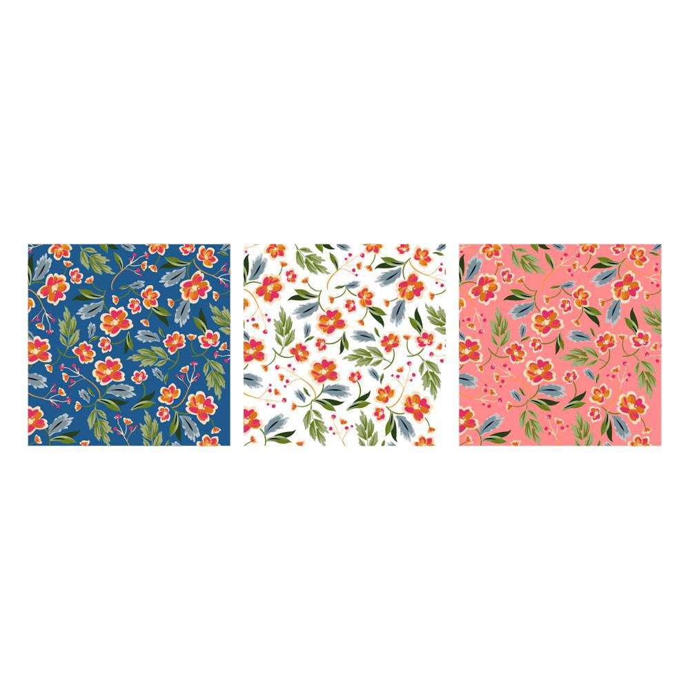 Poster Decorativo Estampa Floral Fundos Coloridos