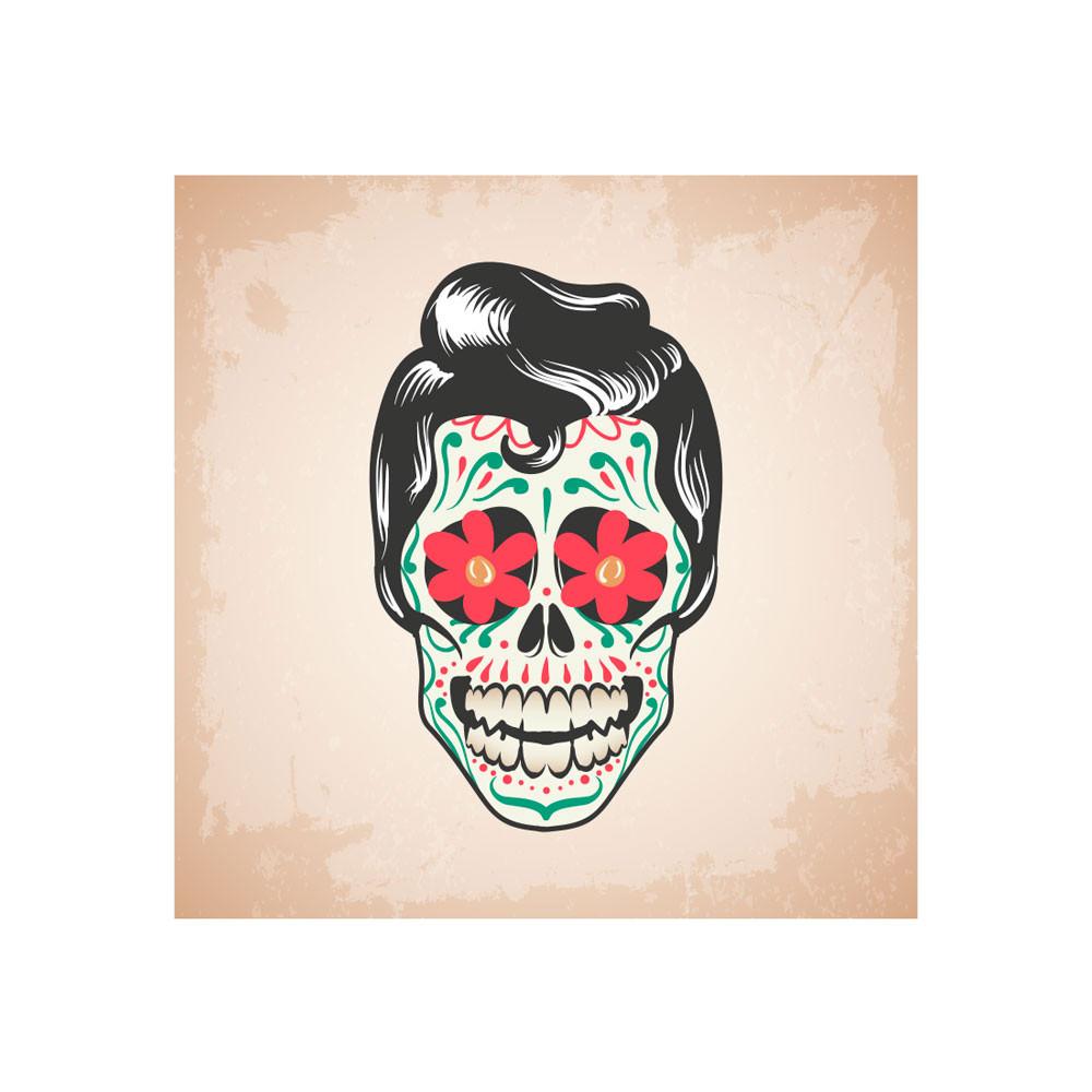 Poster Decorativo Caveira Mexicana Homem