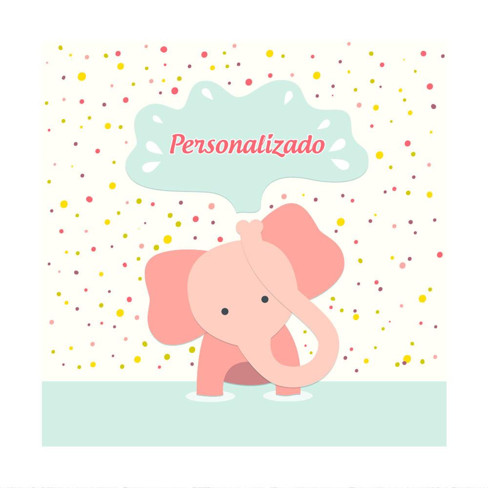 Painel Decorativo Infantil Elefante com Nome Personalizado