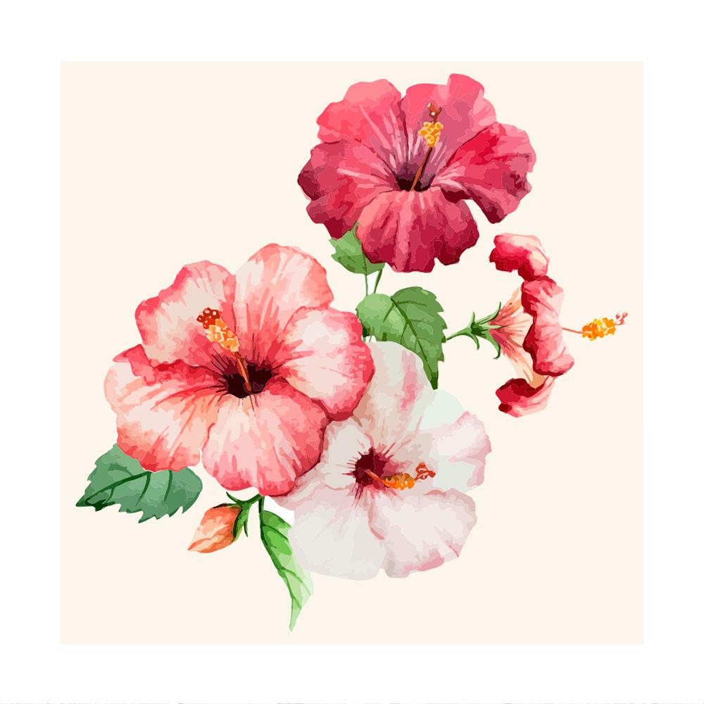 Painel Decorativo Flor Hibisco