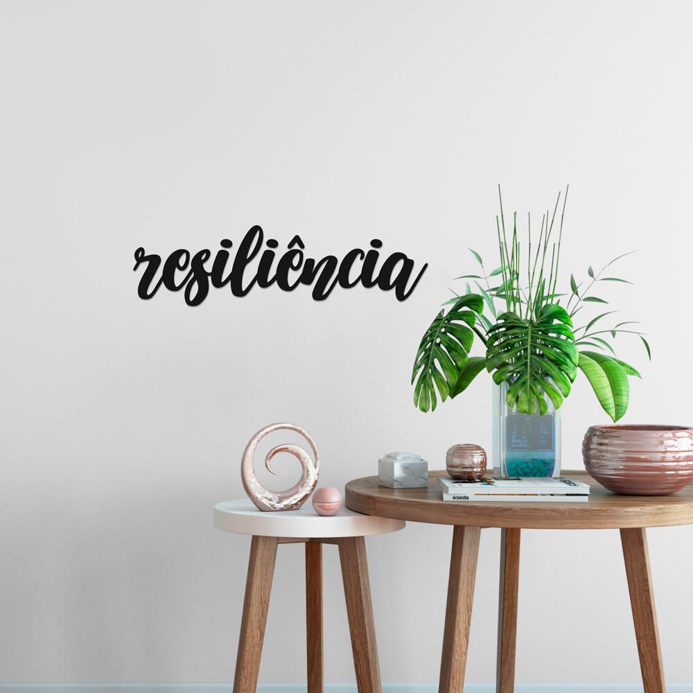 """Palavra Decorativa 3D """"Resiliência"""""""