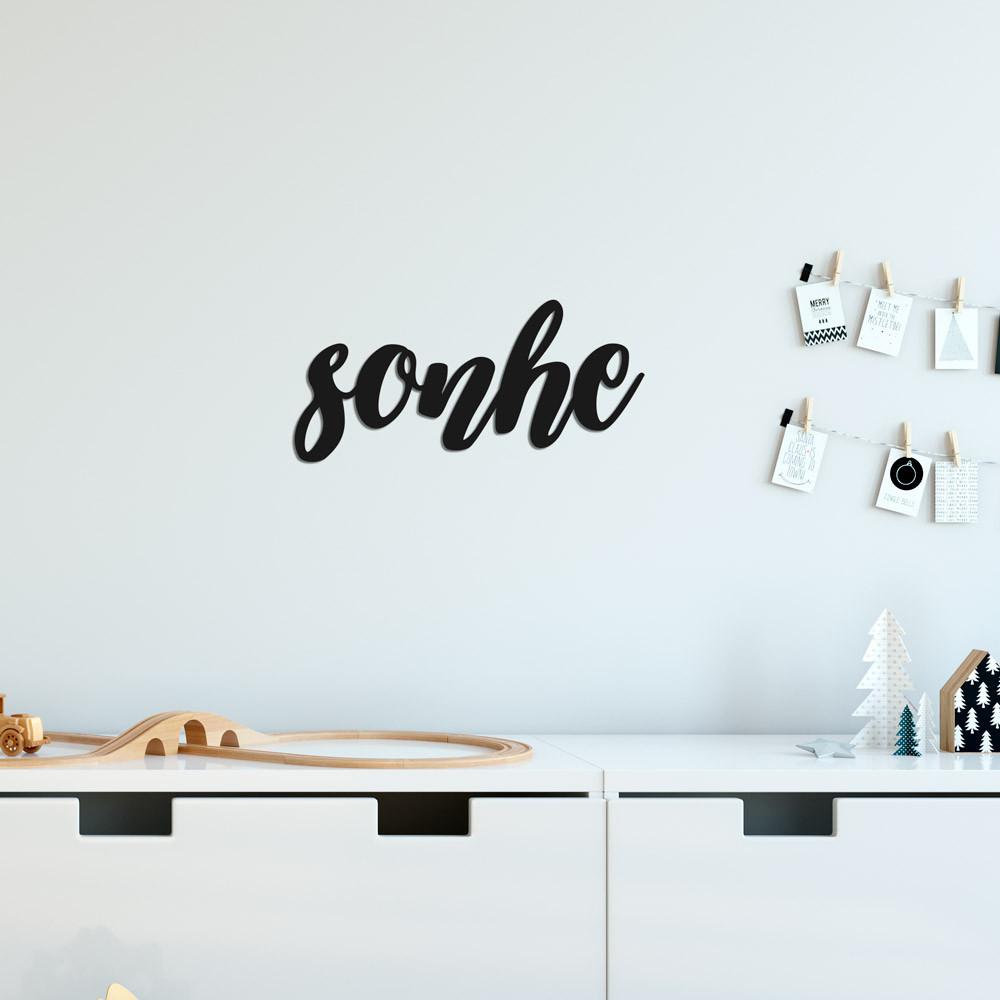 "Palavra Decorativa 3D ""Sonhe"""