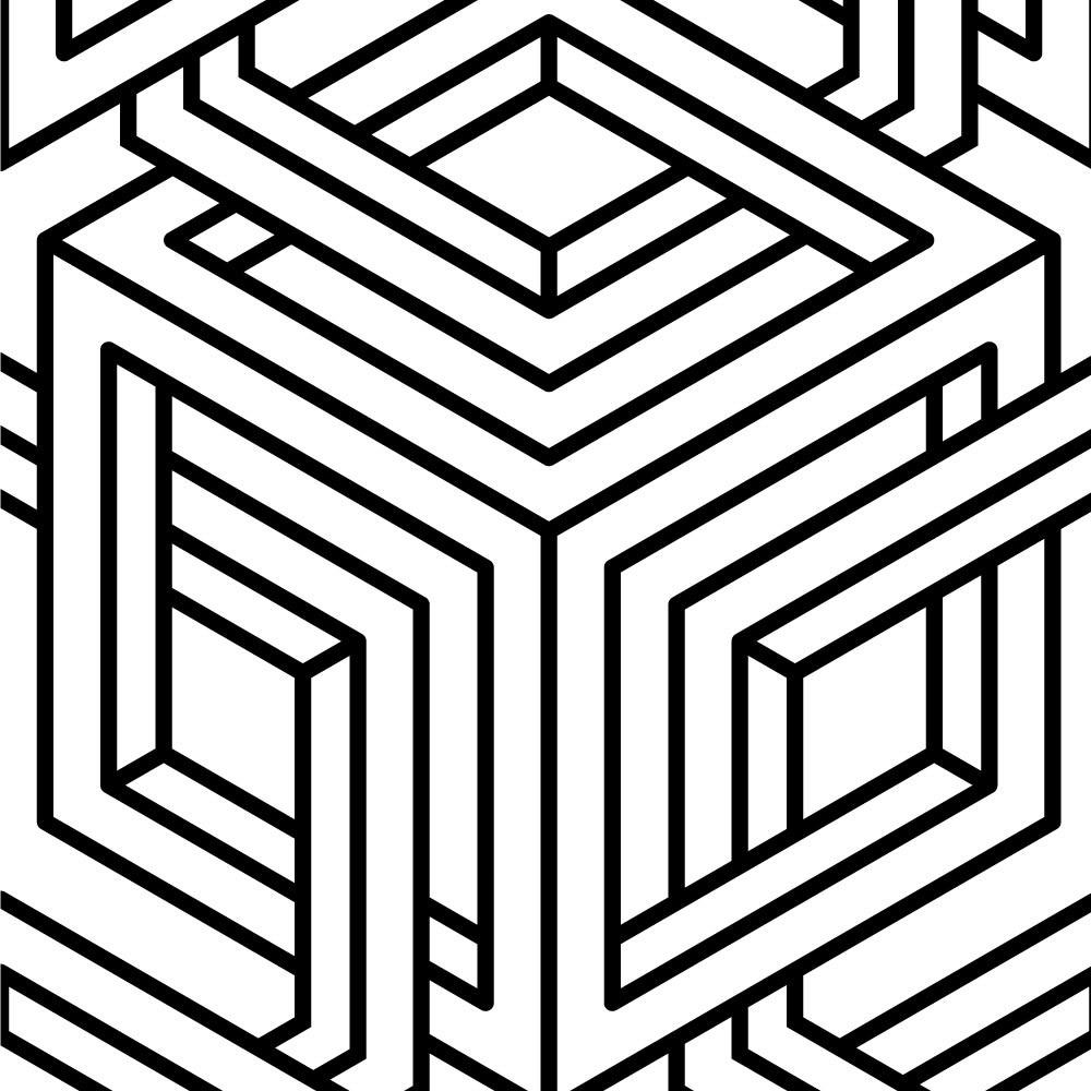 Papel de Parede Abstrato Geométrico II (Padrão Grande)