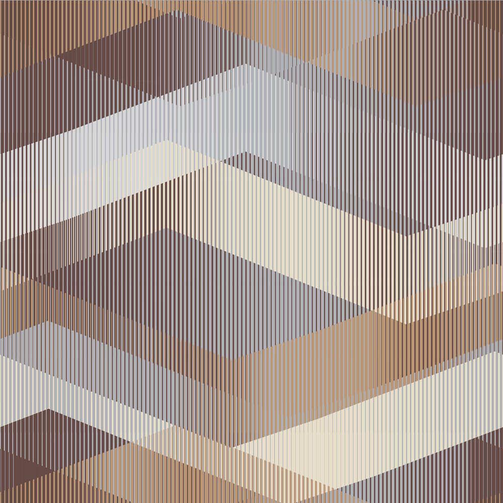 Papel de Parede Abstrato Marrom