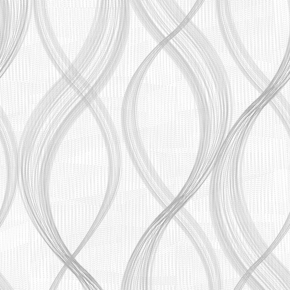 Papel de Parede Ondulado Abstrato (Cinza)