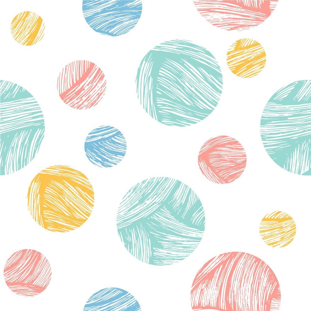 Papel de Parede Abstrato Círculos Coloridos